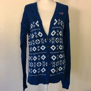 Sweaters - Hollister Blue Long Cardigan